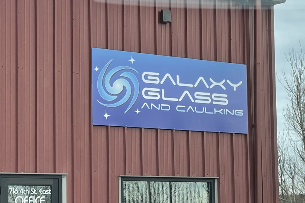 Galaxy Glass Building Sign